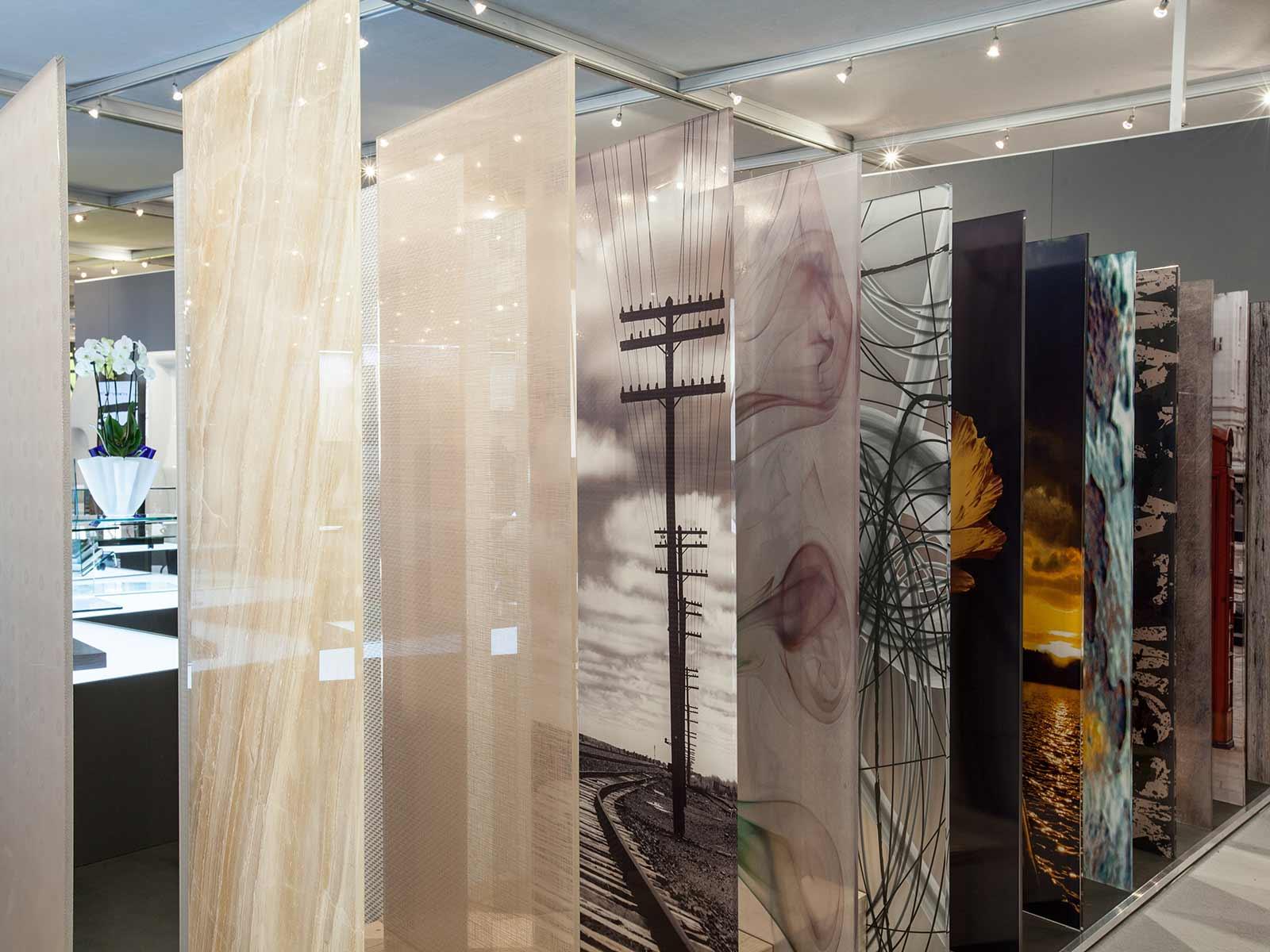 Vetro decorato e serigrafato, Vetrotec, azienda lavorazione vetro B2B